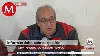 Informan datos sobre explosión en Tlahuelilpan, Hidalgo