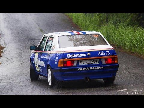 Alfa 75 2.5 V6 Rothmans (Teaser PS1) - Inserito da Davide Cironi il 3 maggio 2016 durata 2 minuti - Sotto il diluvio, gomme a stampo vecchie e dure, autobloccante al 70% e una caviglia sanguinante: il mio primo rally � stato una figata.