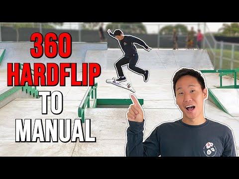 360 HARDFLIP TO MANUAL?! | A Day at Kapolei Skatepark