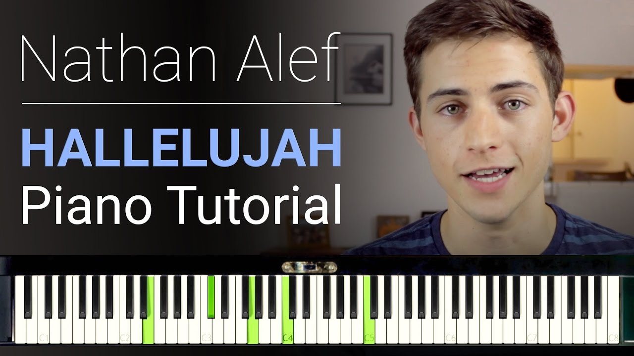 Piano tutorial quot hallelujah quot chords and arrangement lesson youtube