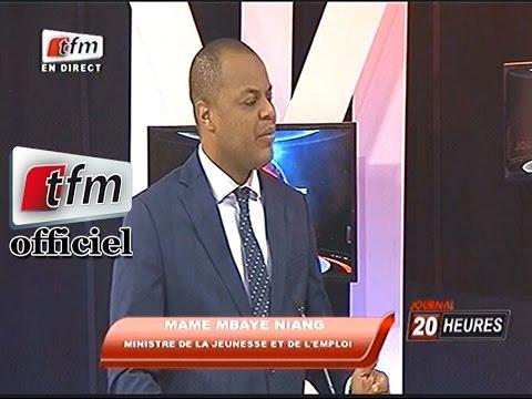 L'invité du 20h, Mame Mbaye Niang Ministre de la jeunesse et de l'emploi - 11 mai 201