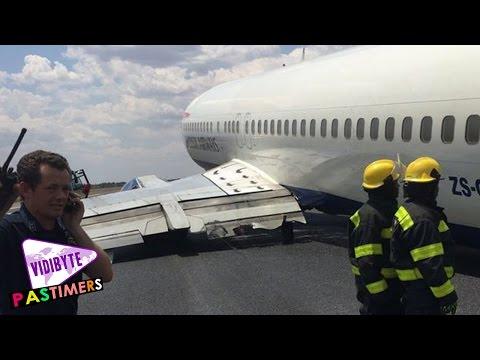 British Airways Plane Crash lands at South African airport