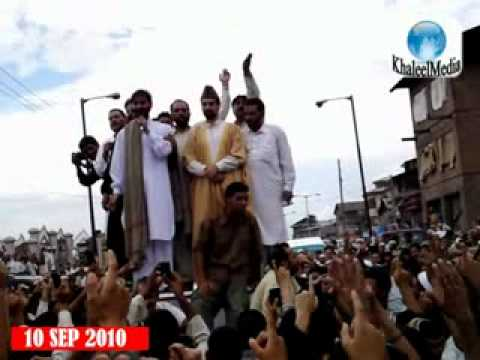 10 SEP 2010 : Mirwaiz Omar Farooq & Yaseen Malik in Unity March - Part 02