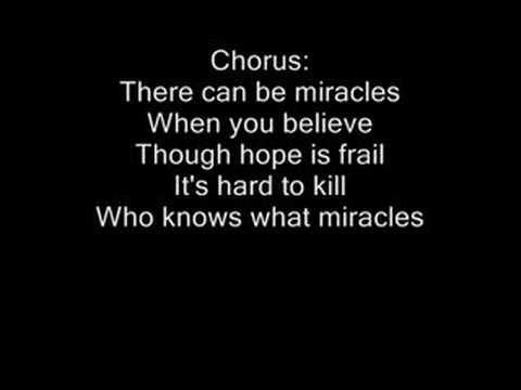 When i believe lyrics whitney houston