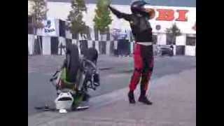 Stunt bike fell and dancing