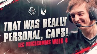 That Was Really Personal, Caps! | LEC Week 4 G2 Voicecomms