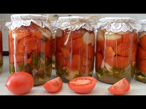 Салат из розовых помидоров на зиму