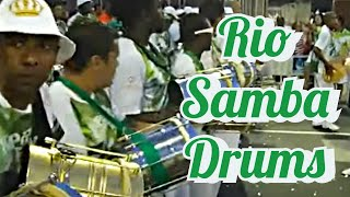 SAMBA DRUMMING: RIO CARNIVAL DRUMS AT IT´S BEST! FULL BATUCADA LIVE AT SAMBADROME