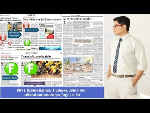 7 Days Duty: How to read theHindu (Part1)- Frontpage to Editorial