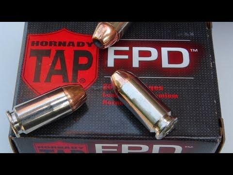 Hornady TAP FPD .40 S&W 155 gr JHP SIM-TEST w/denim