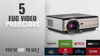 Top 10 Eug Video Projectors [2018]: Video Projector Wireless 3500 Lumens, Android WiFi LCD 200''