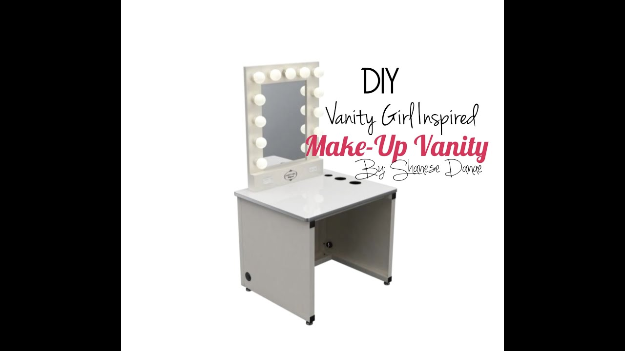DIY Hollywood Make Up Vanity YouTube