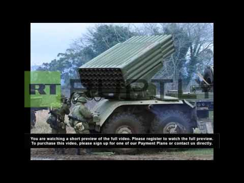 Abkhazia: Russian troops conduct rocketry drills