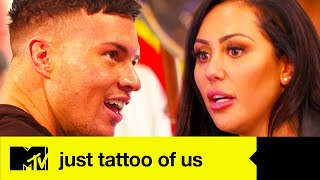 Sophie Kasaei's Tattoo For Joel Corry Is Unmissable! | Worst Payback Tattoos | Just Tattoo Of Us