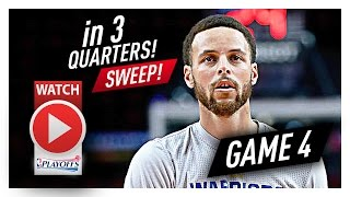 Stephen Curry Full Game 4 Highlights vs Trail Blazers 2017 Playoffs - 37 Pts, 8 Ast, 7 Reb in 3 Qtrs