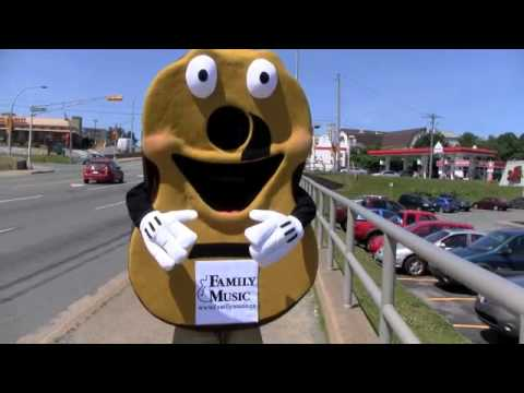 Family Music mascot on Main Street