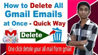 How to delete all gmail emails at once on click - BD Tech