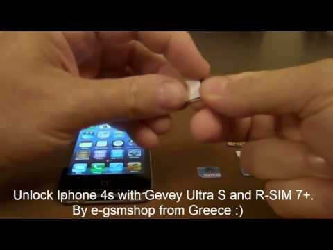 Unlock Iphone 4s with Gevey Ultra S and R-SIM 7+ .