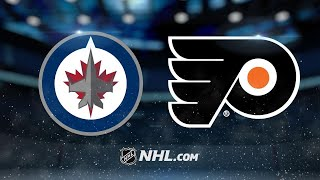 Mrazek, Flyers squeak by Jets in 2-1 win