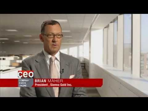 Video Interview with President Brian Maher of Sienna Gold Inc.