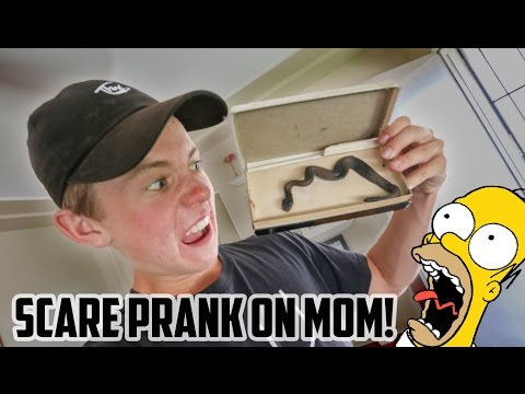 FAKE SNAKE PRANK ON MY MOM!