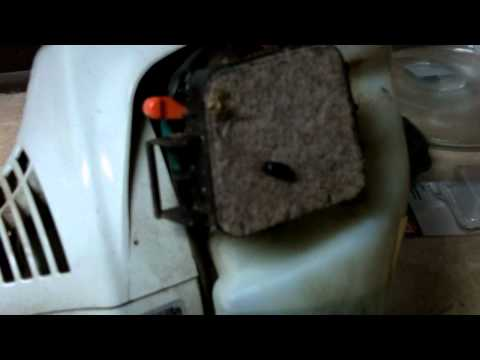 HOW TO ADJUST THE IDLE ON A STIHL TRIMMER AFTER YOU HAVE INSTALLED A NEW CARBURETOR