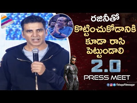 Akshay Kumar SUPERB Speech about Rajinikanth | 2.0 Movie Press Meet| Shankar | AR Rahman | 2 Point 0