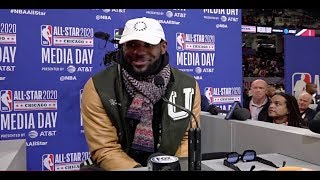 LeBron James Talks Michael Jordan, Lakers and All-Star Weekend | NBA All-Star 2020 Media Day