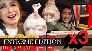 Letting The Person In Front Decide What I Eat x3!! (with Jelai Andres) DRIVE THRU + GROCERY EDITION