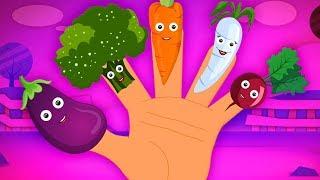 gia đình ngón rau | ngón tay bài hát gia đình | vần điệu cho trẻ em | Vegetable Finger Family Rhymes