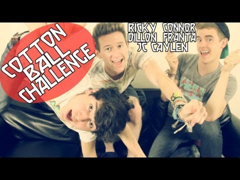COTTON BALL CHALLENGE W/ CONNOR & JC | RICKY DILLON