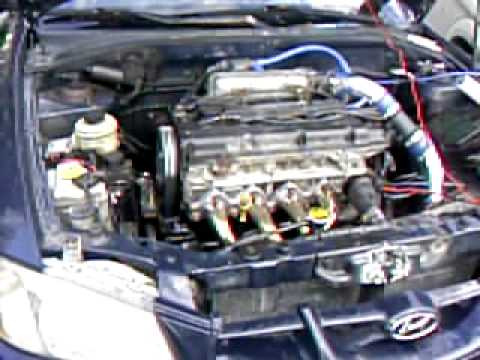 Hyundai Accent 2 0l Swap First Start Youtube