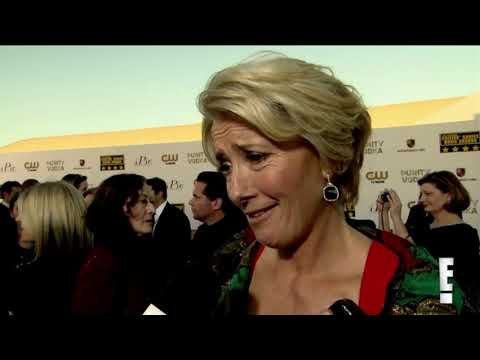 Emma Thompson about Oscars nom, Meryl Streep & kiss with Julia Roberts