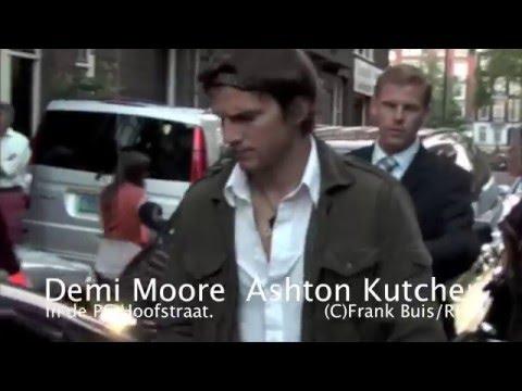 Scout LaRue Willis met Demi Moore & Ashton Kutcher in de PC Hoofstraat