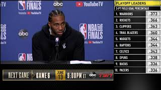 Kawhi Leonard Press Conference | NBA Finals Game 5