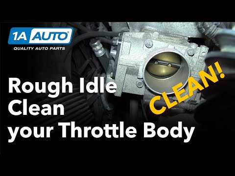 Fixing an uneven idle by cleaning carbon buildup out of the Engine Throttle Body