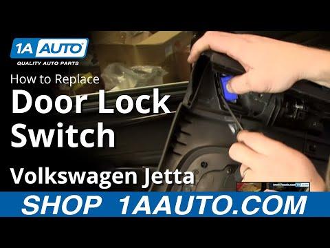 How TO Install Replace Rear Power Door Lock Switch 2005-10 Volkswagen VW Jetta