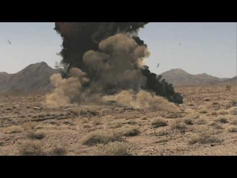 FumeFX Desert Explosion 3D Animation of an anti-tank Javelin missile explos