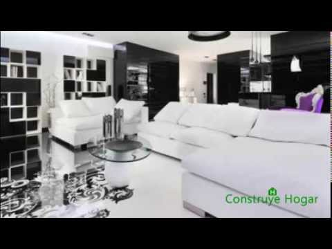 Dise o de departamento moderno estilo blanco y negro youtube for Departamentos decorados en blanco
