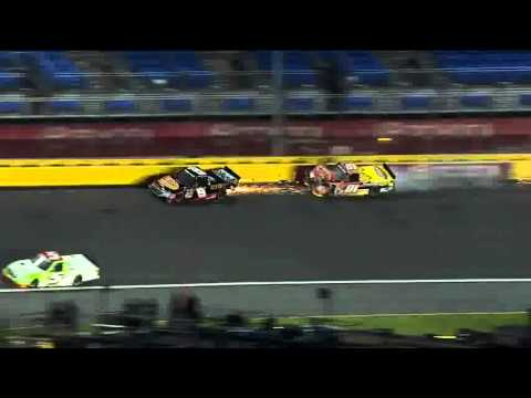 2013 NC. Education Lottery 200 - Hornaday and Crum Big Crash