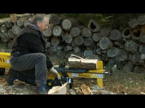 WoodEze Electric Log Splitter Demo - Impressive Power!