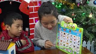 Bé Minh học chữ cái tiếng việt bằng bảng chữ cái điện tử thông minh - Trò chơi dạy học