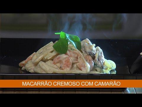 MACARRÃO CREMOSO COM CAMARÃO