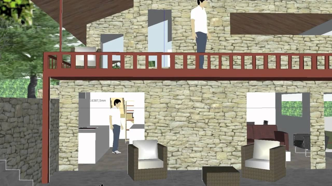 Modele de maison google sketchup youtube for Google sketchup maison
