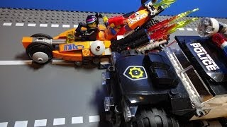 THE LEGO MOVIE Super Cycle Chase - Stop Motion