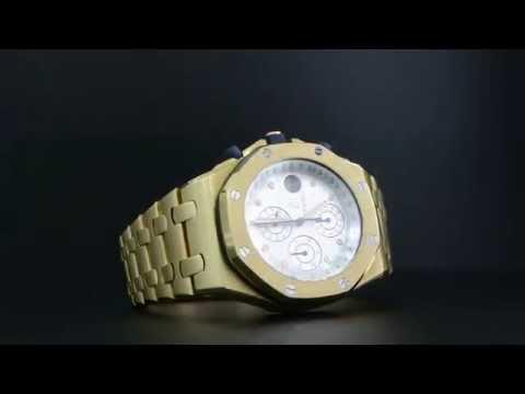 Men's Yellow Gold Royal Oak Offshore- Prestige Sports Collection