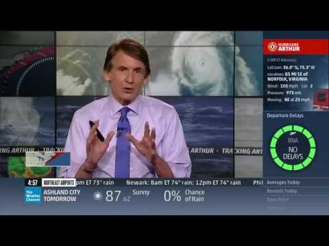 Hurricane Arthur Coverage (7/4/14 3am-5:30am) - The Weather Channel