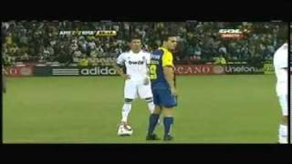 First CR7 goal in Real Madrid (an awesome Free Kick goal) Real Madrid 3 - Club America 2