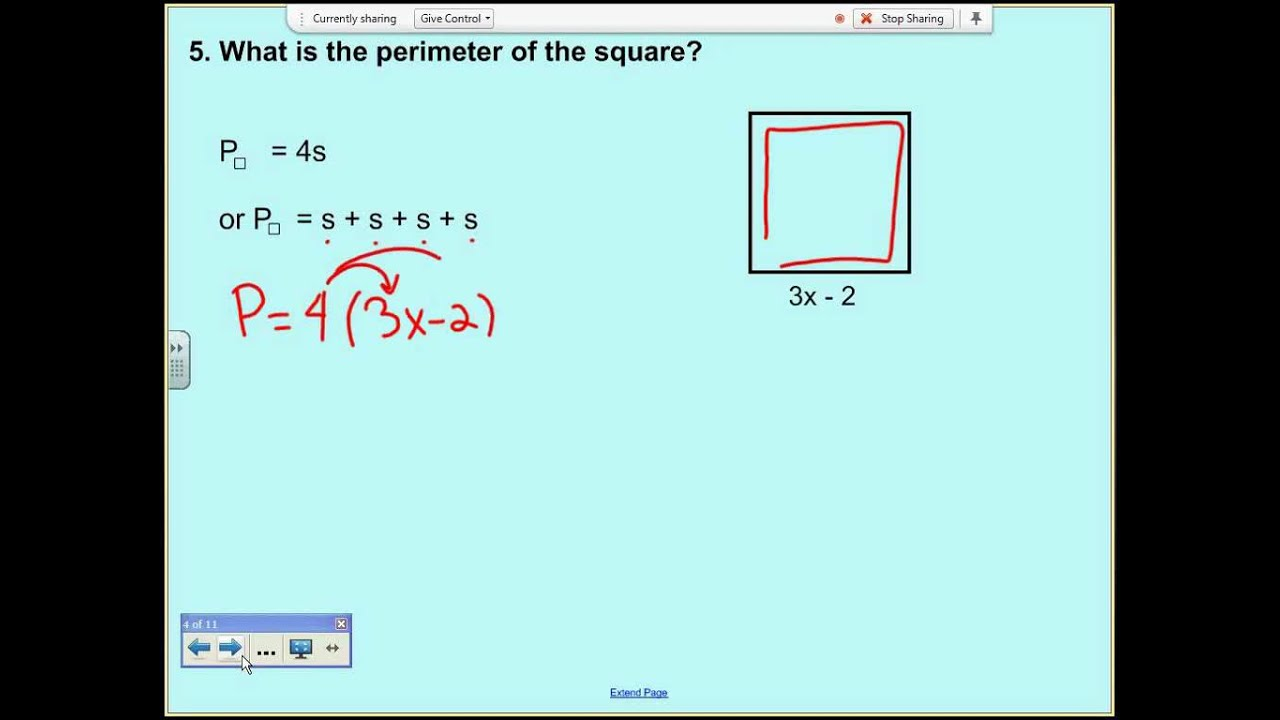 Solving perimeter and area problems