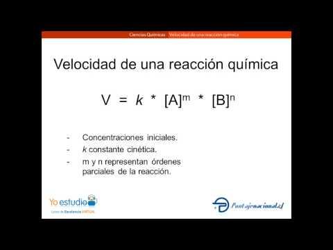 Velocidad de una reaccion quimica - yoestudio.cl